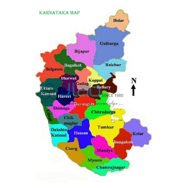 Karnataka Political Map Chart India Karnataka Political Map Chart - Mapchart