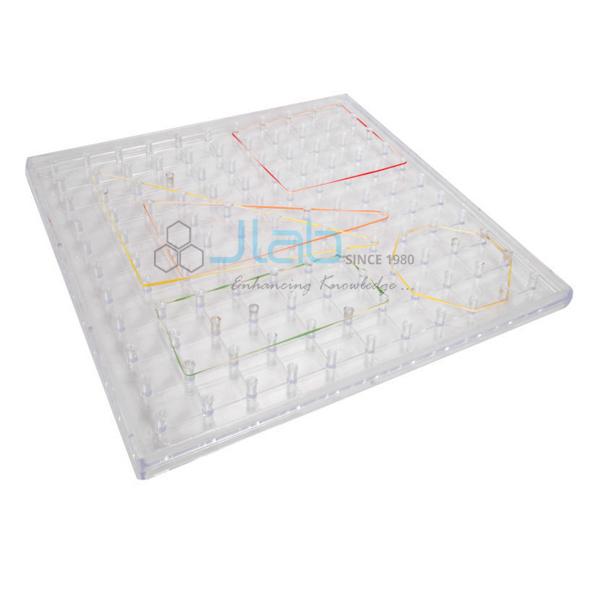 Geoboard Transparent 11X11 Flat head Peg Grid