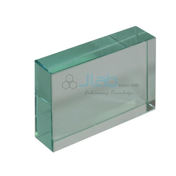 Glass Block Rectangular 75 x 50 x 15 mm JLab