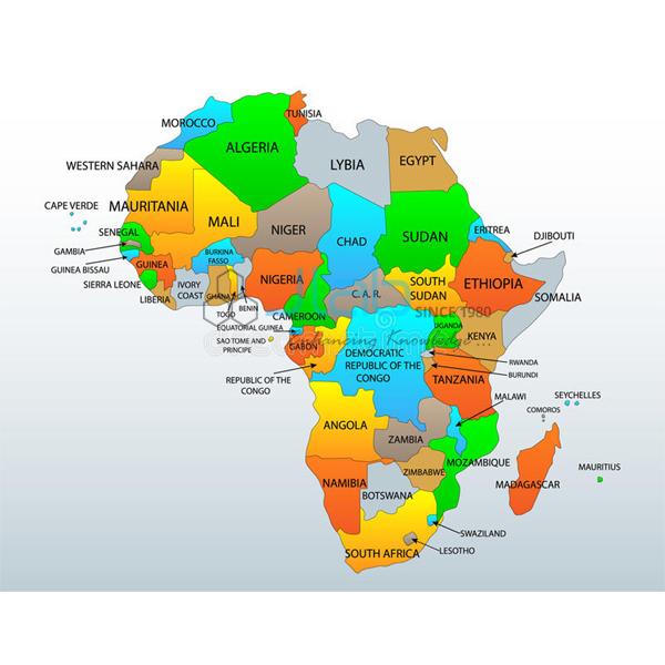 Africa Political Chart