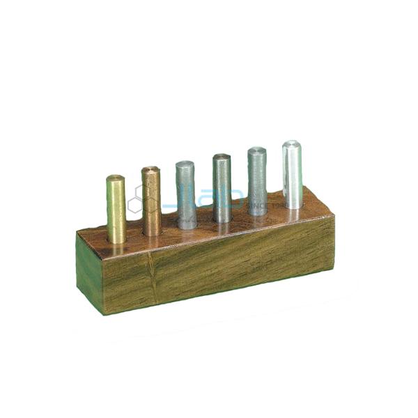 Metal Cylinders wood case Set