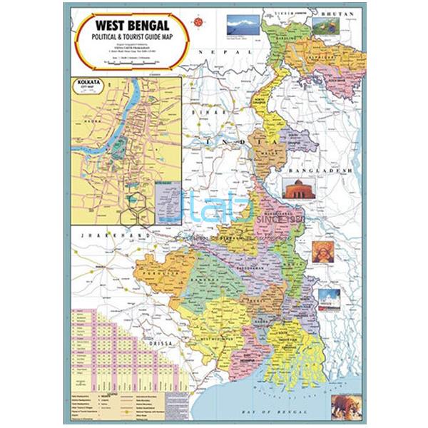West Bengal Political Map Chart