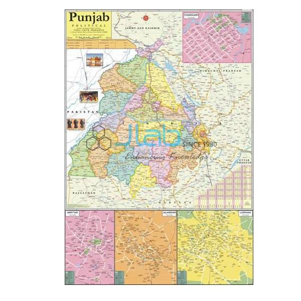 Punjab Political Map Chart