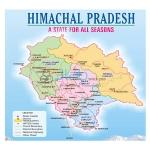 Himachal Pradesh Map Chart
